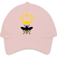 2015 New Male/female Fashion Adjustable Baseball Caps Snapback Hats Queen Bee Pink Cotton