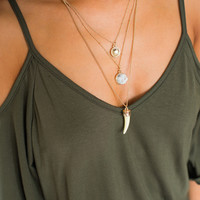 Crystal 3 Layer Necklace