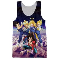 Newest Anime Dragon Ball Z Super Saiyan Tank Tops Goku/Vegeta/Majin Buu/Brolly Prints t shirt Men Women Hipster 3D Tank Top Vest