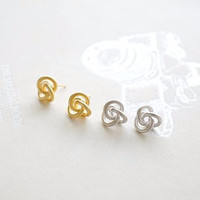 Knot Heart Ring-Choose your color(Gold/Silver/Pink Gold)