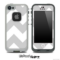 Large Gray & White Chevron Pattern Skin for the iPhone 5 or 4/4s LifeProof Case