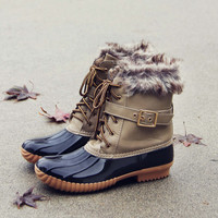 The Alpine Duck Boots in Taupe