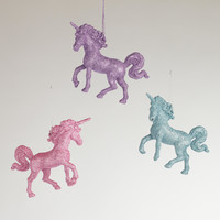 Unicorn Ornaments, Set of 3
