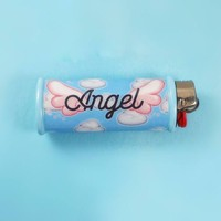 Angel Bic Lighter Case