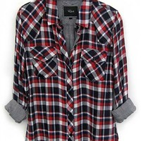 Rails Kendra Tencil Plaid Long Sleeve Buttondown Shirt | ShopAmbience