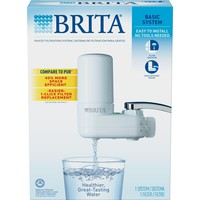 Brita Water Faucet Brita On Tap Chrome Water Faucet Filtration System With Water Filter By Brita   Fits Standard Faucets For Great Tasting Water Chrome Brita Water Filtration System