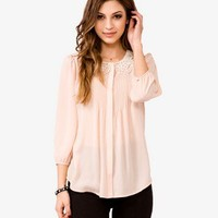 Lace Collar Georgette Top