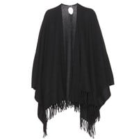 mytheresa.com -  Ribbed cashmere cape  - Luxury Fashion for Women / Designer clothing, shoes, bags