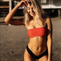 New Arrival Beach Summer Swimsuit Hot Sexy Ladies Red Black Plus Size Hot Sale Bikini [747998216308]