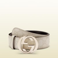 Gucci - belt with interlocking G buckle 114876AA61G9022