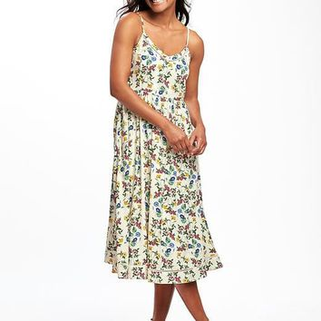 Fit & Flare Cami Midi Dress for Women | Old Navy