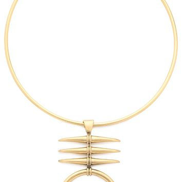 Metal Triple Horn Collar Necklace