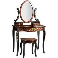 Pier 1 Imports - Pier 1 Imports > Catalog > Furniture > Pier1ToGo Product Details - Morikami Vanity Stool, Table & Mirror