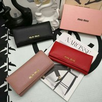MIU MIU WOMEN'S LEATHER WALLET