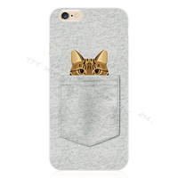 Stylish Pocket Kitten Silicone Phone Case For Apple iPhone 5 5S