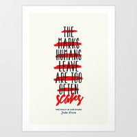 The Fault in Our Stars Art Print by thatfandomshop