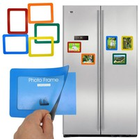 Colorful Magnetic Picture Frames 12*8cm Photo Magnets Photoframe for Refrigerator Perfect for Family Photos and Memories
