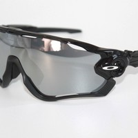 Oakley Jawbreaker Sunglasses OO9270-1931 Polished Black W/ Chrome Iridium Lens