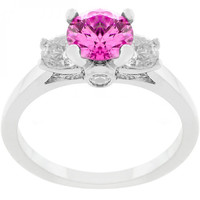 Mini Pink Ice Triplet Ring (size: 08)