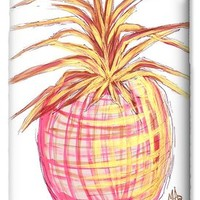 Chic Pink Metallic Gold Pineapple Fruit Wall Art Aroon Melane 2015 Collection by MADART iPhone 6 Case