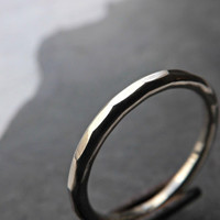hammered gold ring slim gold ring 2.0mm wide engagement ring gold wedding ring 14k yellow gold red gold white gold mens gold ring
