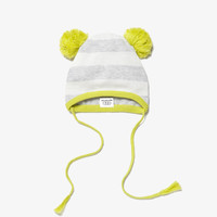 Egg Baby Striped Knit Hat - Grey