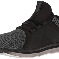 PUMA Men's Enzo Knit Cross-Trainer Shoe Puma Black/Quiet Shade 9 D(M) US '