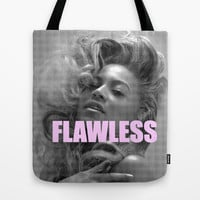 FLAWLESS Tote Bag by Trend | Society6