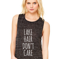 Lake Hair Don't Care Women's Flowy Muscle Tank by Bella