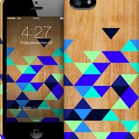 Geometric Blue Polygons iPhone by House of Jennifer | Nuvango