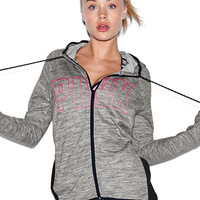 Stretch Fleece Full-Zip Hoodie - PINK - Victoria's Secret