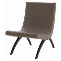 Arteriors Home Danforth Gray Quilted Top Grain Leather Chair - Arteriors Home 6740