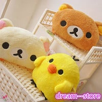 "【SALE】 12.5"" Rilakkuma Extra Large Big Plush Doll Soft Stuffed Toy Pillow"