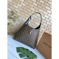LV Louis Vuitton Tote Bags Women's  Handbag Shopping Leather Crossbody Satchel 34*38*17CM