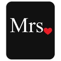 Mrs with heart dot (Mr and Mrs set) Mousepad