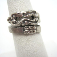 Vintage Spoon Ring - Wrap Ring