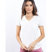 Go-To Basic V Neck Tee