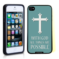 Iphone 5 5S Case Thinshell Case Protective Iphone 5 5S Case Shawnex Christian Cross Quote