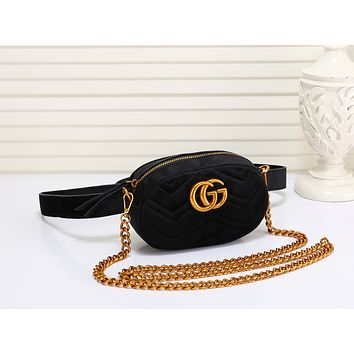 Gucci Women Leather Purse Waist Bag Single-Shoulder Bag Crossbody