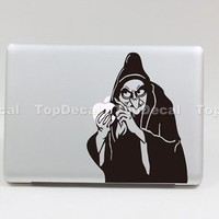 TOP DECAL Witch - Macbook Decal Sticker Humor Partial Art Skin Protector