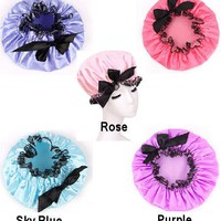 Polly Victorian Maid Satin Shower Cap - 5 Colors
