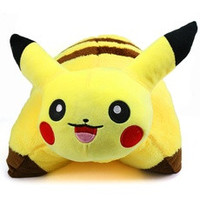 40cm Pikachu Pokemon Pet Pillow Sleep Cushion Soft Plush PM023 (Size: 42 cm, Color: Yellow) [7686881862]