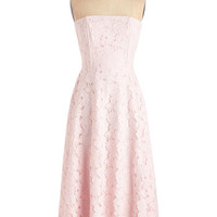 Pastel Long Strapless A-line