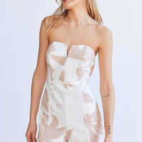 Bardot Bella Strapless Notch Romper | Urban Outfitters
