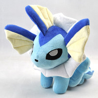 Pokemon Eevee Series Plush Toy Big Size 25cm Pokemon Vaporeon Plush Toys Doll Soft Stuffed Animals Toys Gift for Kids With Tag