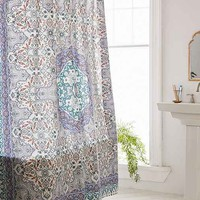 Plum & Bow Anza Tiled Medallion Shower Curtain