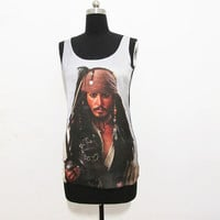 Pirates of the Caribbean tshirt, Johnny Depp tshirt,Johnny Depp tanktop,Pirates of the Caribbean tanktop