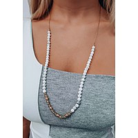 All We Had Necklace: White/Multi