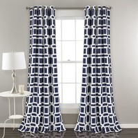 Geo Weave Room Darkening Window Curtains
