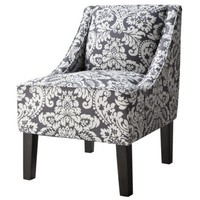 Hudson Upholstered Accent Chair - Gray/White